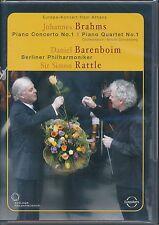 Simon Rattle Berlin Philharmonic Brahms Piano COncerto No 1 Piano Quartet 1 DVD