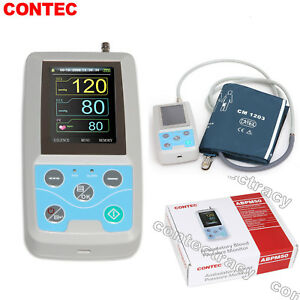 CE Arm Ambulatory Blood Pressure Monitor 24hours NIBP Holter ABPM50 Adult cuff