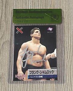FRANK SHAMROCK AUTO'D SIGNED 1997 BBM PANCRASE CARD #113 BAS COA UFC STRIKEFORCE