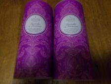 Shearer Lavender and Geranium scented pillar candles x 2