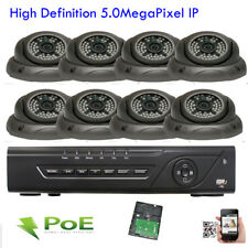 8CH Network NVR 2592x1920P 5MP PoE IP IP66 ONVIF Alarm Security Camera System