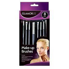 8 Pack Glamorize Make-Up Fard Brush Set Cosmetici per Ombretto Pettine per sopracciglia