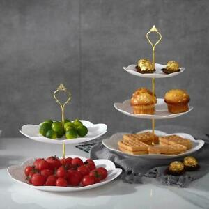 3 Layers Of Cake Stand Afternoon Tea Wedding Party Plates Tableware Cake U3C4