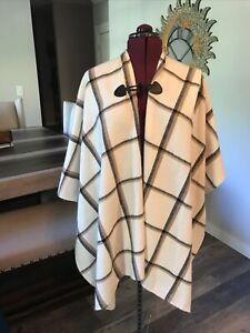 Women's Cardigan Wrap Cream Brown & Black