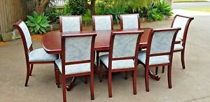 Solid wood Dining set extendable table and 8 chairs