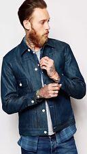 New Levi's California Type 2 Denim Trucker Jacket Small Cotton Deal Navy Fashion