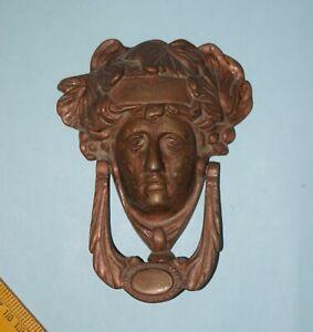Antique Victorian Lady Door Bell Brass Queen Face Door Knocker Villa Décor EK839