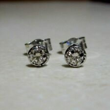 Brand New Halo 1/2ct Diamond 18ct White Gold Halo Stud Earrings £350 Freepost