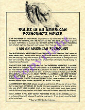 Rules In An American Foxhound's House