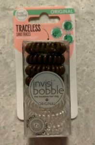 New Invisibobble Original Traceless 8 Pack - Brown and Clear