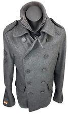 Super Dry Navy Label Coat Jacket Grey JPN M Unisex Style SS10