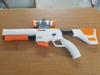 Wii Zapper Gun for Nintendo Wii Orange And White, Adjustable Stock with Scope