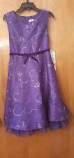 Rare editions purple girls size 6 dress