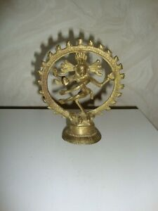 Shiva Statue / Nataraja / Tanzend im Rad , Messing / Bronze