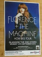 Florence + The Machine - Glasgow sept.2015 tour concert gig poster