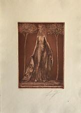 Radierung Ernst Fuchs 1930 - 2015 Flora Okuli Phantastischer Realismus Wien
