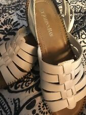 St. John's Bay White Wedge Sandals Excellent Condition 6.5 M - GREAT FOR SPRING