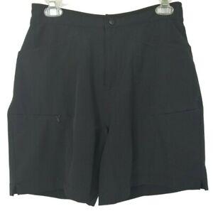 LL Bean Womens Black Cycling Biking Bicycling Shorts Padded Crotch Small