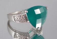 Chalzedon Ring, 925er Silber, Gr. 17, Juwelo, mit Zertifikat