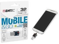 Clé USB 2en1 / USB3.0 & micro-USB OTG Emtec t200 Mobile & Go 32GB