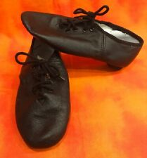 Child's Theatricals Footwear Full Leather Sole Dance Shoes 77302C-Size 1.5 BLACK