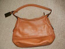100% Genuine Leather Ralph Lauren Camel Handbag