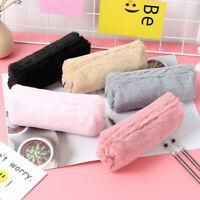 5 Colors Pencil Pen Case Cosmetic Makeup Bag Storage Pouch Purse Students School