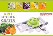 Spiralizer Vegetable & Fruit grater Julienne Shred Twister Slicer Cutter 5 IN 1