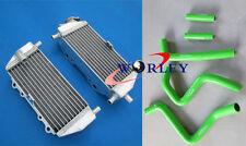 aluminum radiator&silicone hose Kawasaki KX250 KX 250 1999 2000 2001 2002 94-02