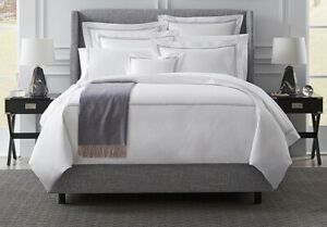 260$ Viceroy Grande Hotel by Sferra King Duvet Cover White Gold stitching