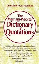 The Merriam-Webster Dictionary of Quotations, Merriam-Webster, 0877799040, Book,