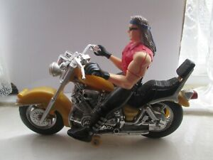 TOY PULL BACK CHOPPER AND RIDER MOTORCYCLE MODEL