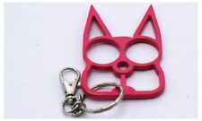 USA STOCK PINK Cat Shape Women Key Chain Keyring Emergency Metal Tool