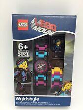 LEGO The Lego Movie Wyldstyle With Mini-Figure Link Kids Watch 8020233 New