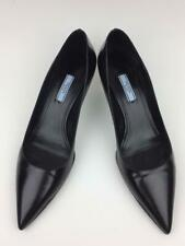 Prada Kitten Heel Leather Pumps sz 10