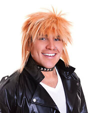 MENS 70s 80s PUNK ROCKER WIG NEW ROMANTIC BLONDE SPIKEY FANCY DRESS COSTUME