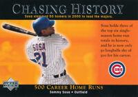 Sammy Sosa 2002 Upper Deck Chasing History #CH1 Chicago Cubs baseball card
