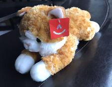 """Aurora Flopsie Chester Cat, Orange White Striped Calic16"""" Plush Toy Animal - NWT"""