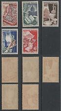 """FRANCE / 1954 - SERIE """"PARFUMS"""" # 970 a 974 **  / COTE  45.00 € (ref 1478E)"""