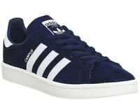 Mens Adidas Campus Dark Blue White Trainers Shoes