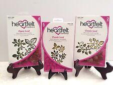 Lot Set Heartfelt Creations Die+2Stamps Classic Leaf Open Leaf HCD736+3545+3546
