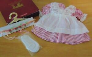 American Girl Samantha's Retired Lacy Pinafore & Rosebud Circlet w/ Box