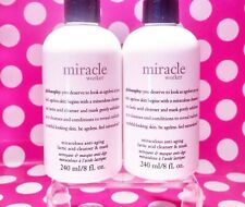 Philosophy Miracle Worker Cleanser Duo 16 oz TOTAL 8oz  X'S 2   BRAND NEW!