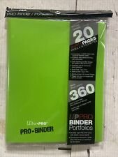 Ultra-Pro 9-pocket Binder, Lime Green. Holds 360 Cards For TCG CCG. Wowza
