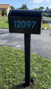 Custom Mailbox Address Numbers
