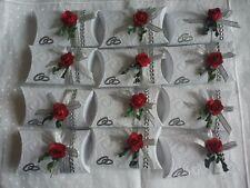 Gastgeschenke Mandeln Hochzeit, Tischdeko mit 5 Mandeln gefüllt und Spruch