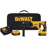 "DEWALT DCH133M2 20V Max XR Brushless 1"" D-Handle SDS Plus Rotary Hammer Kit"