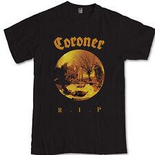 CORONER R.I.P tee trash metal band celtic frost Kreator S M L XL 2XL 3XL t-shirt