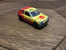 Majorette Peugeot 205 GTI No281/210 Yellow/Red DieCast Scale Model 1/53