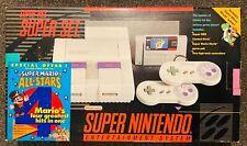 Super Nintendo Console SNES - Super Mario World Set - Complete in Box w/Out Game